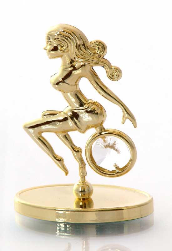 """Reducere de pret Fecioara cu Cristale Swarovski - placat cu Aur 24K + broșură """"Fecioara"""""""