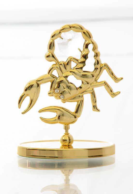 """Reducere de pret Scorpion cu Cristale Swarovski - placat cu Aur 24K + broșură """"Scorpion"""""""