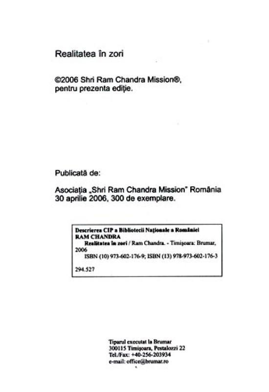 Reducere de pret Realitatea în zori - Ram Chandra