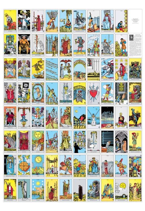 Tarotul Rider Waite - Include o broșură cu instrucțiuni și setul complet de 78 de cărți color (22 din Arcana Mare și 56 din Arcana Mică)