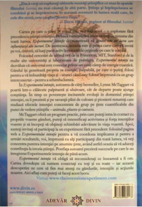 Reducere de pret Experimentul intenție - Lynne McTaggart