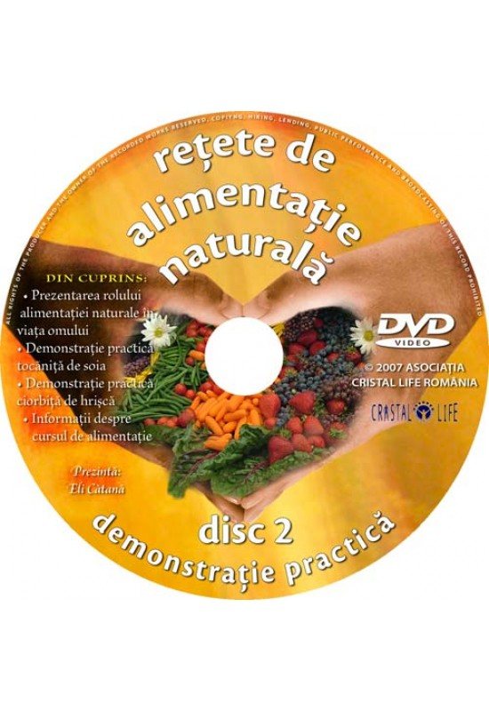 Reducere de pret Rețete de Alimentație Naturală - Dublu DVD + Carte